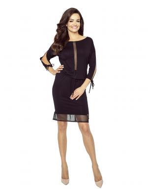 BERGAMO sieviešu melnas krāsas kleita