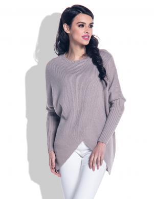 FOBYA sieviešu brūnas krāsas džemperis ar vilnu