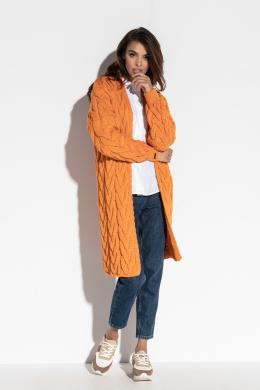 FOBYA oranžs sieviešu kardigans
