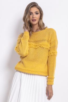 FOBYA dzeltens sieviešu džemperis