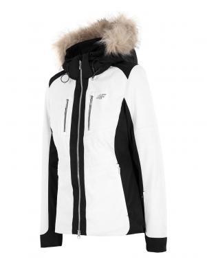 4F sieviešu baltas krāsas slēpošanas jaka