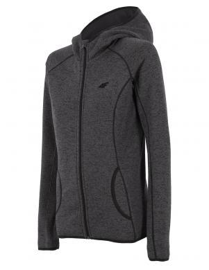4F tumši pelēkas krāsas sieviešu džemperis