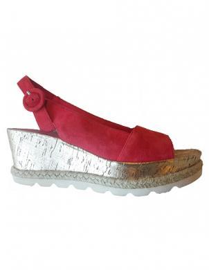 Sieviešu sarkanas zamšas sandales HOGL