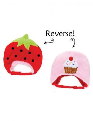 FLAPJACK jautra cepure ar siltinājumu Strawberry/Cupcake