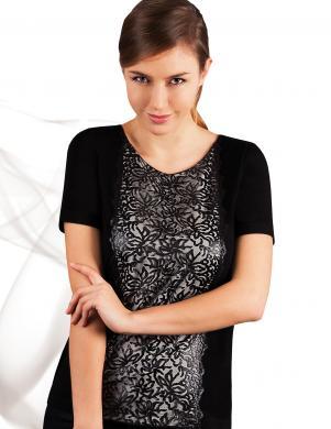 EMILI melnas/krēmīgas krāsas skaista sieviešu blūze