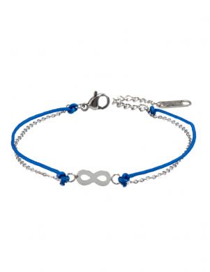 MADE FOR LOVING sieviešu zilas/sudraba krāsas aproce