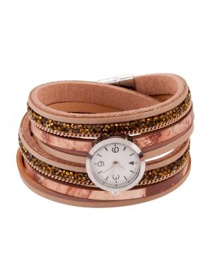 Brūnas krāsas sieviešu pulkstenis