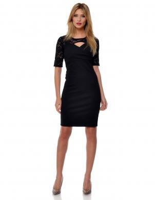 LARUE sieviešu stilīga melnas krāsas kleita