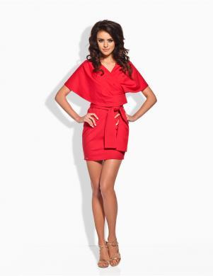 LEMONIADE sarkanas krāsas sieviešu  kleita ar siksnu