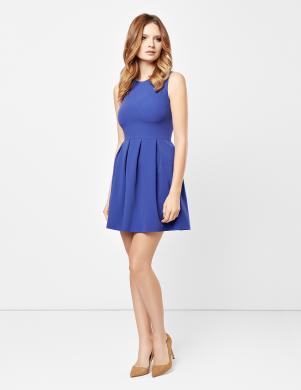 LUPPI zila sieviešu gofrēta kleita
