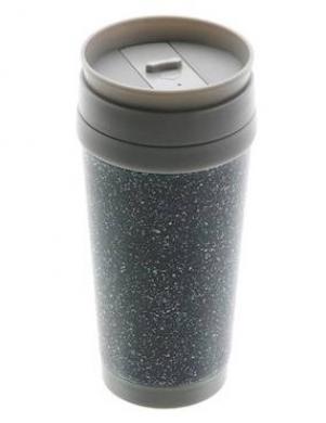 FLORINA pelēkas krāsas termo krūze, 420 ml