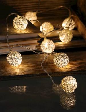 Sudraba krāsas LED spuldzītes 10