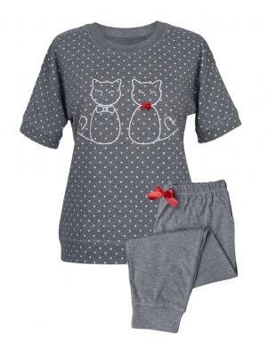 MUZZY pelēka sieviešu pidžama