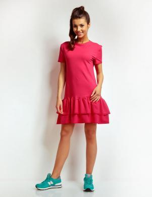 NOMMO rozā sieviešu kokvilnas kleita