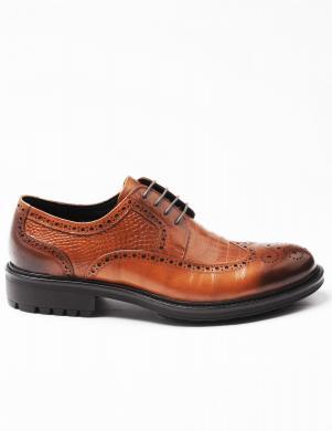 LA CONTE vīriešu brūnas krāsas ādas apavi