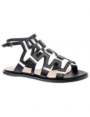 Sieviešu melnas pilnpapēža sandales KEDDO
