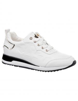Sieviešu balti sporta stila apavi ar melnām detaļām KEDDO