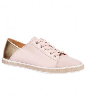 Sieviešu rozā apavi ar zelta krāsas papēdi KEDDO