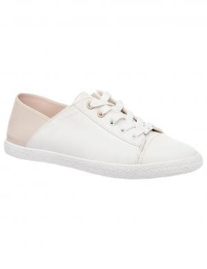 Sieviešu balti apavi ar rozā krāsas papēdi KEDDO
