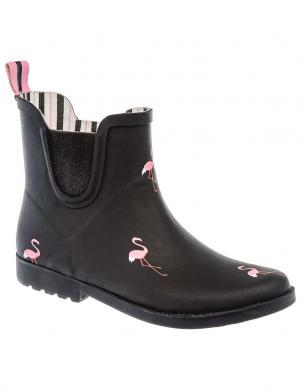 Sieviešu melni gumijas apavi zābaki KEDDO