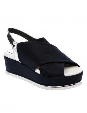 Sieviešu zilas krāsas sandeles ar augstu  platformu BETSY