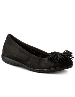 Sieviešu melni zamšādas apavi CAPRICE