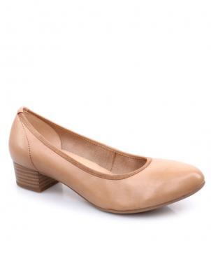 Sieviešu krēmīgas krāsas eleganti ādas apavi CAPRICE