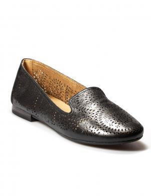 Sieviešu melni perforēti eleganti apavi CAPRICE