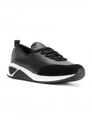 Vīriešu melni ādas sporta apavi DIESEL