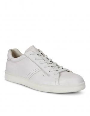 Vīriešu balti ādas apavi brīvam laikam ECCO