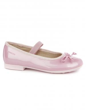 Bērnu rozā lakoti apavi JR PLIE' GEOX
