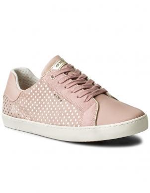 Bērnu rozā šņorējami apavi ar baltu zoli JR KILWI GIRL GEOX