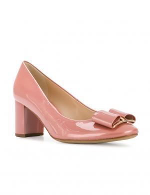 Sieviešu rozā lakoti eleganti augstpapēža apavi HOGL