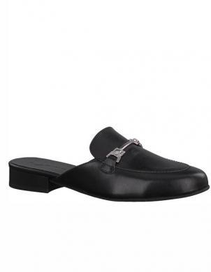 Sieviešu melni ādas apavi TAMARIS