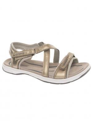 CROSBY sieviešu dzeltenīgi sudraba krāsas sandales