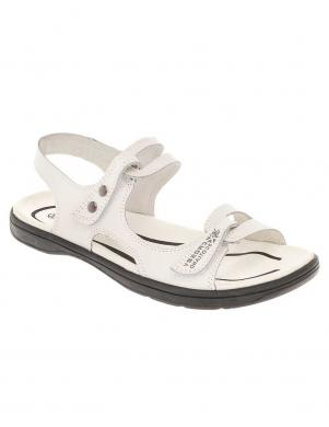 CROSBY sieviešu baltas ādas sandales