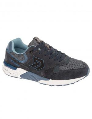 CROSBY vīriešu tumši zili ādas brīva laika apavi