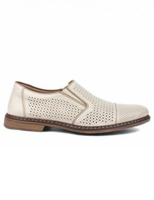 RIEKER vīriešu gaiši ādas perforēti apavi
