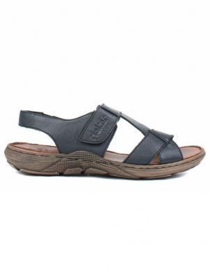 RIEKER vīriešu tumši zilas ādas sandales