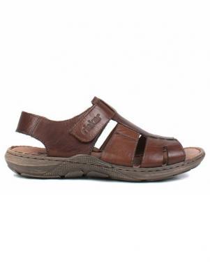 RIEKER vīriešu tumši brūnas ādas sandales