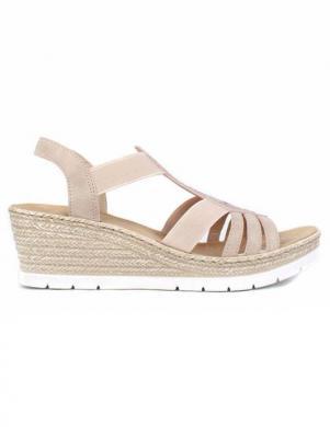 RIEKER sieviešu krēmīgas krāsas sandales