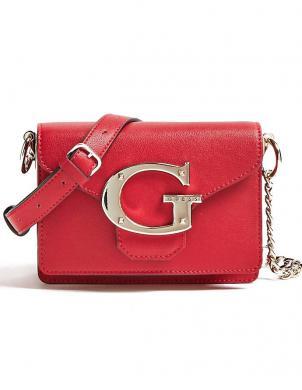 GUESS sarkana sieviešu soma pār plecu