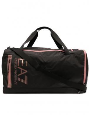 EA7 sieviešu-vīriešu melna soma