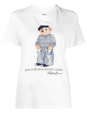 POLO RALPH LAUREN sieviešu balts krekls ar īsām piedurknēm