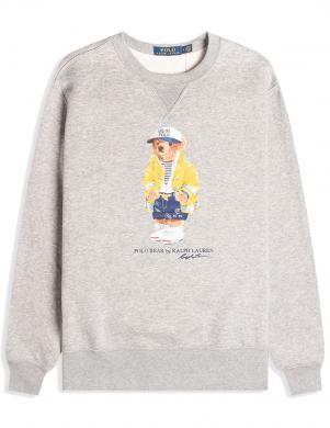 POLO RALPH LAUREN vīriešu pelēks džemperis ar iespiedumu