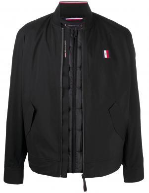 TOMMY HILFIGER vīriešu melna jaka - veste