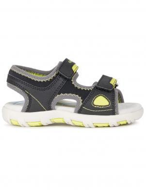 GEOX bērnu melnas sandales zēniem SANDAL PIANETA