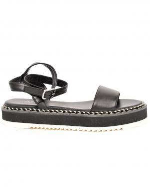AGL sieviešu melnas sandales MYRTE