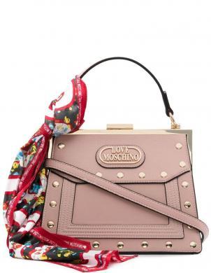 LOVE MOSCHINO sieviešu gaiši rozā soma ar šalli