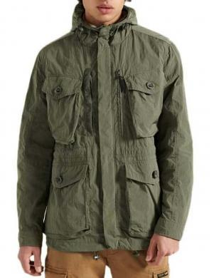 SUPERDRY vīriešu gaiši brūngani zaļa jaka NEW MILITARY PARKA COATS